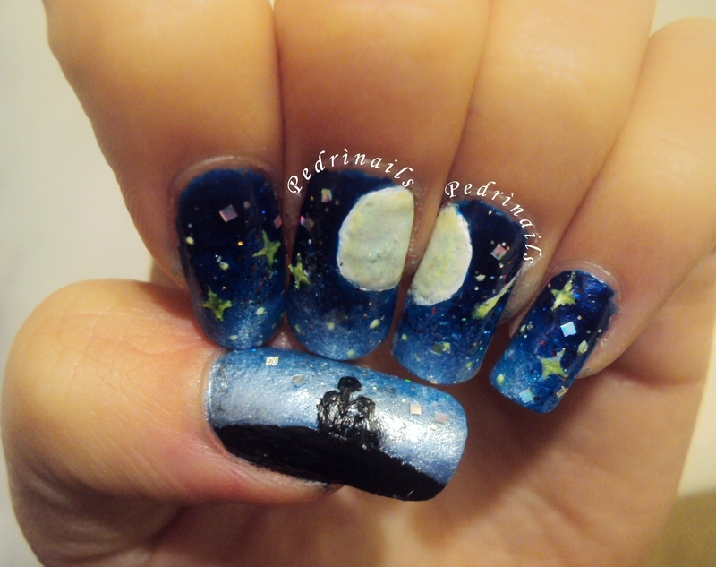 The night of desires nail art by Pedrinails
