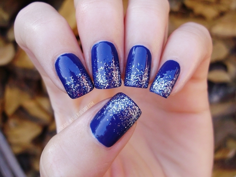 Essence Sunset Paradise with silver glitter  nail art by Sanela