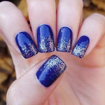 Blue glitter nails 1 thumb370f