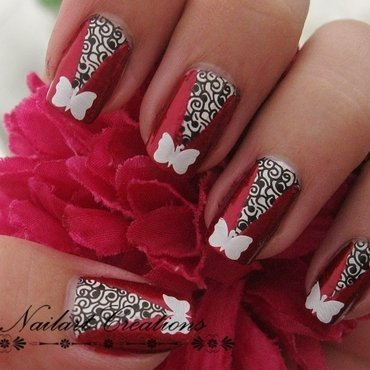 Modern Butterfly Nailart nail art by Nailart Creations