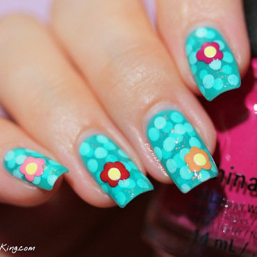 Pond Nails with Water lilies nail art by Elektra King