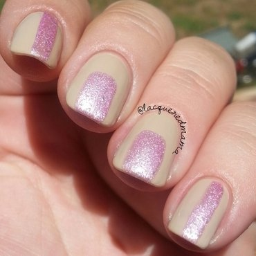 Pretty Woman Champagne (Gelogic) and Pretty Woman Pink Sugar Swatch by Jennifer Collins