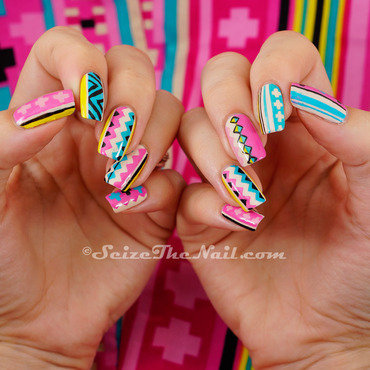 Nails matching dress nail art by Bella Seizethenail