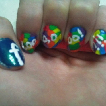 1,000,000 FaceBook Users Party  nail art by JessJar19