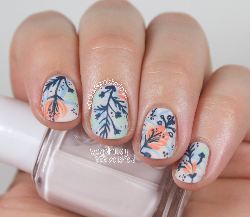 Funky Flowers nail art by Lindsey W - Nailpolis: Museum of Nail Art