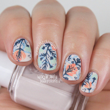 Wondrously polished floral flowers funky nail art 206 thumb370f