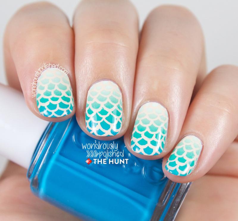 Mermaid-y Goodness nail art by Lindsey W