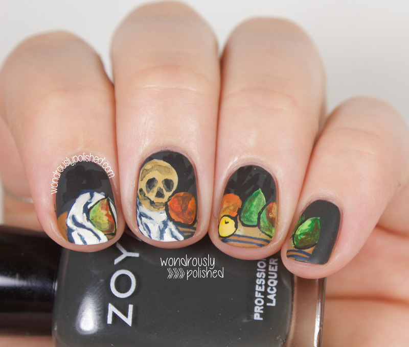 Cezanne inspired Still Life nail art by Lindsey W