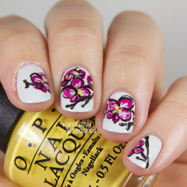 Wondrously polished the beauty buffs radiant orchid color of year orchid nail art sketched 2011 thumb370f