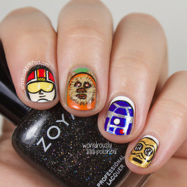 May the Fourth be with You nail art by Lindsey W