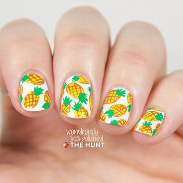 Pineapples! nail art by Lindsey W