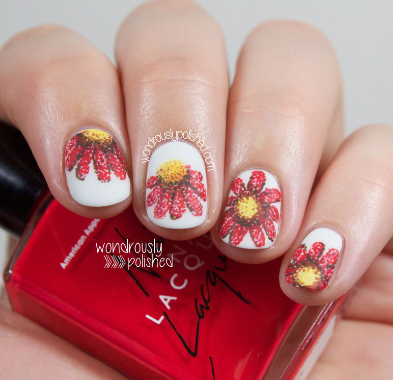 Floral Pointillism nail art by Lindsey W
