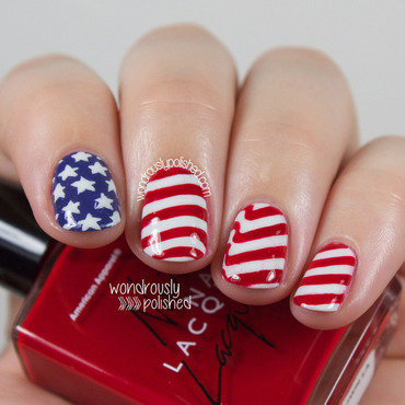 Fourth of July nail art by Lindsey W