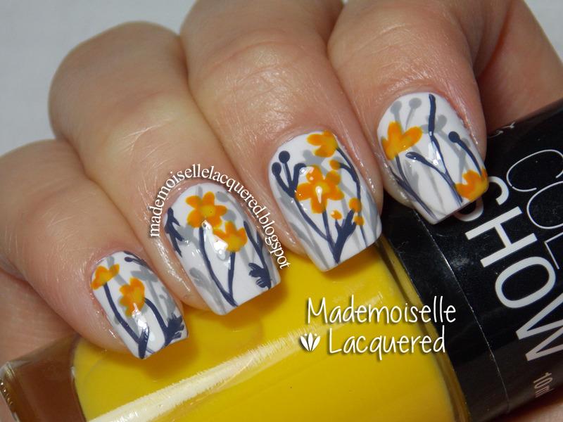 Liberty Vintage nail art by Emilia