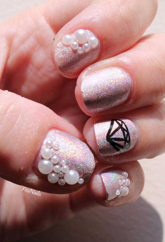 Pearl Nails nail art by Fran Nails