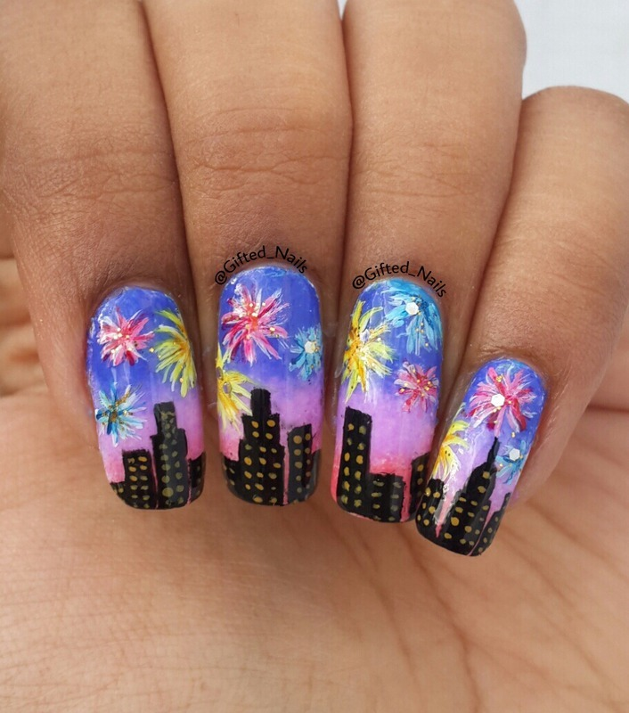 Fireworks nails nail art by giftednails nailpolis museum of fireworks nails nail art by giftednails prinsesfo Images