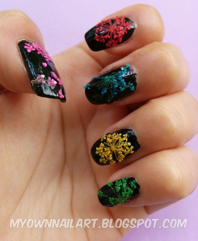 Dried flower nail art nail art by haniya sajid nailpolis museum dried flower nail art prinsesfo Gallery