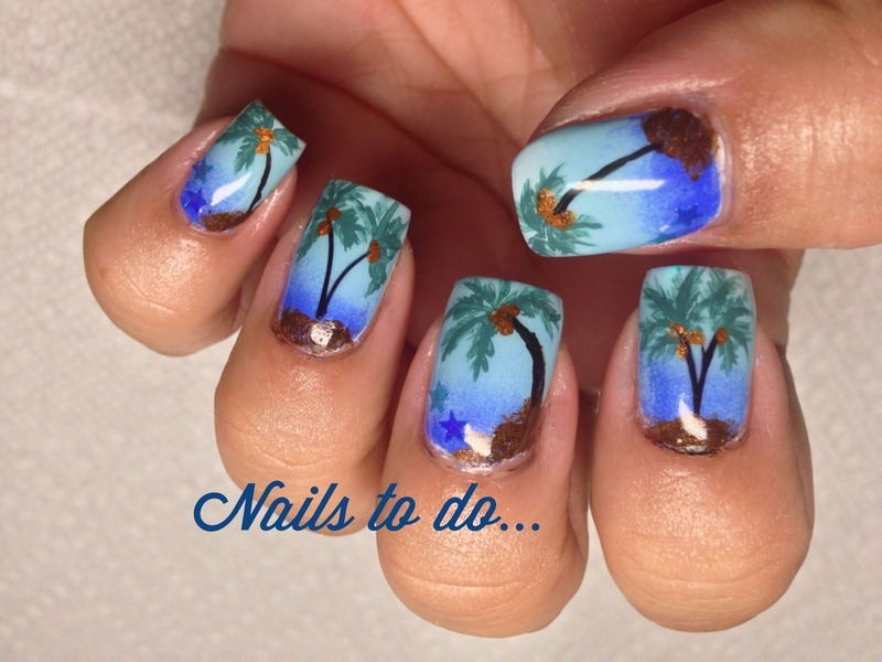 Tropical dream nail art by Jenny Hernandez