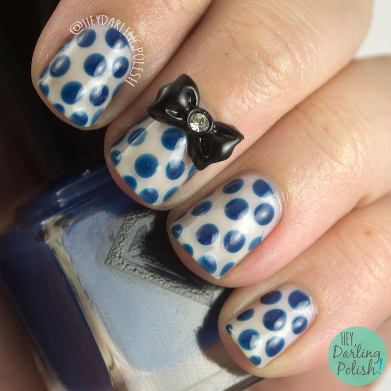 Pokey Dots nail art by Marisa  Cavanaugh