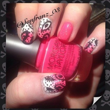 Paisley nail art! nail art by Sandy