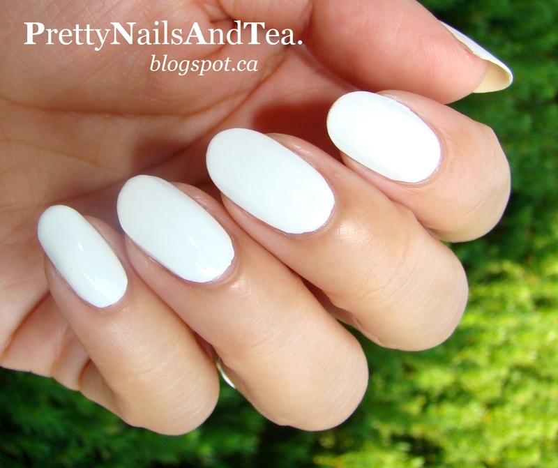 White Polish Swatch nail art by PrettyNailsAndTea