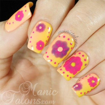 Bright and Fun Florals nail art by ManicTalons