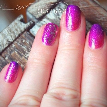 Sunset Ombre nail art by Emilee