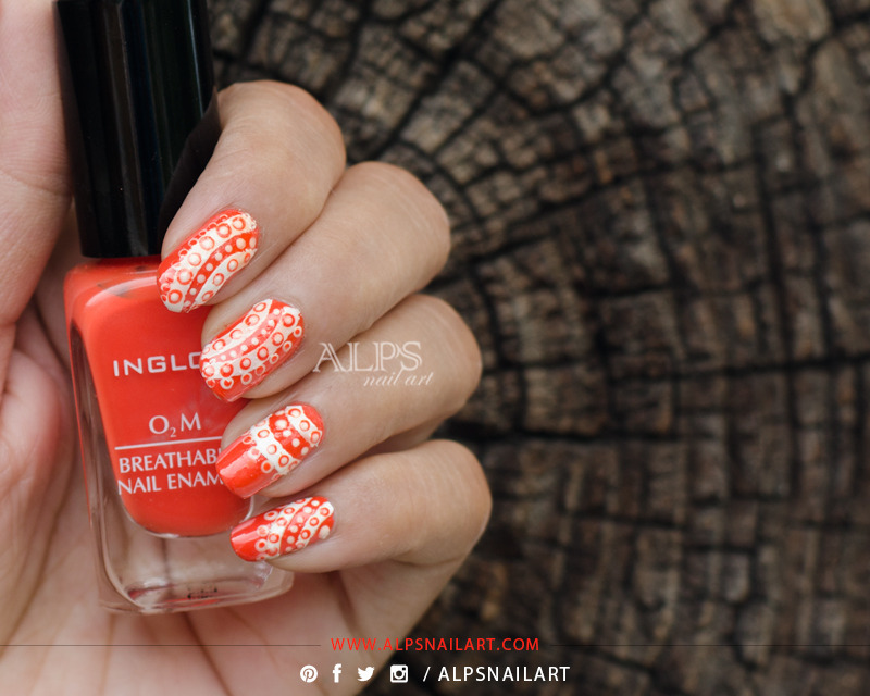 Dotticure Lace Design by Alpsnailart nail art by Alpsnailart