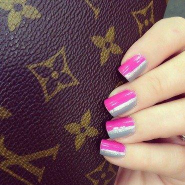 Linear nail art by Anna-Maria D