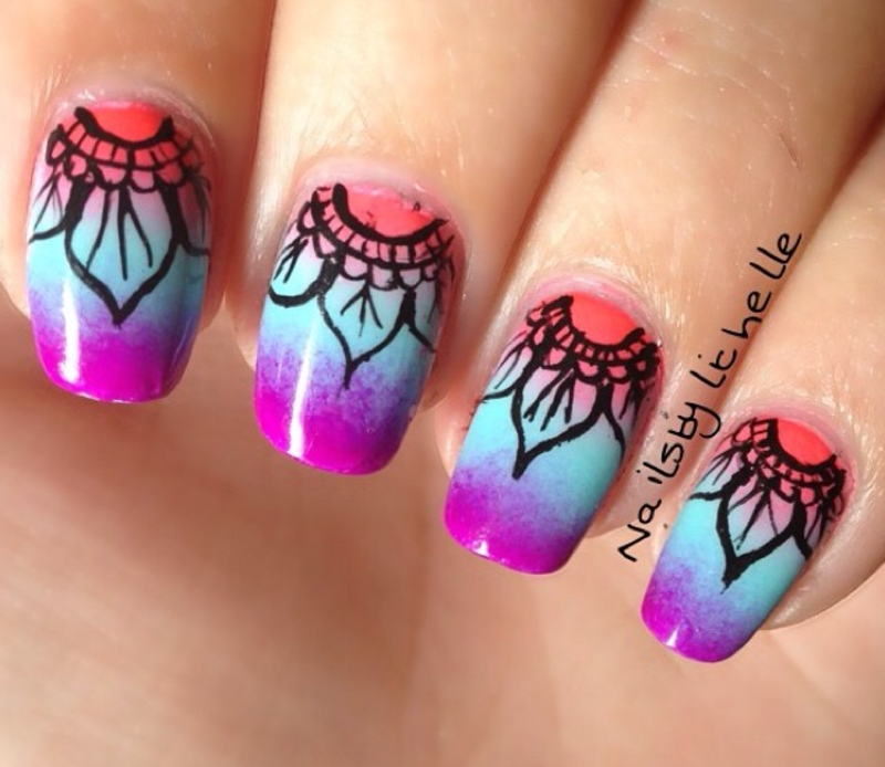 Mandala Nail Art Nail Art By Lichelle NailsbyLichelle