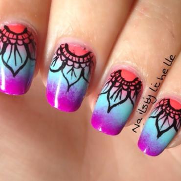 Mandala Nail art nail art by Lichelle (NailsbyLichelle)