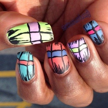 Butterfly wings nail art by Tonya Simmons