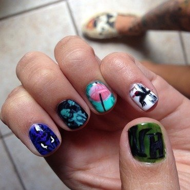 Disney Haunted Mansion Nails (left hand) nail art by Vanessa Jenelle