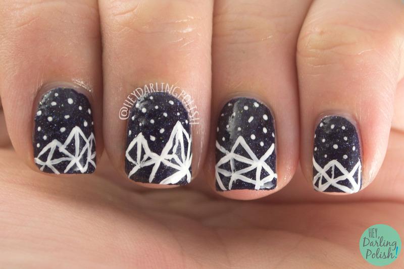 Galaxy Fractals nail art by Marisa  Cavanaugh