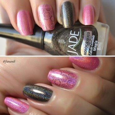 Holo all the way nail art by Andrea  Manases