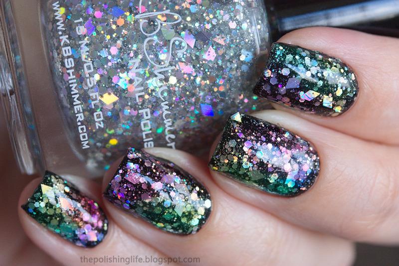 Rainbow Jelly Sandwich nail art by Alena Belozerova