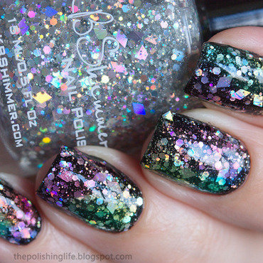 Rainbow Jelly Sandwich nail art by Alena Belozerova