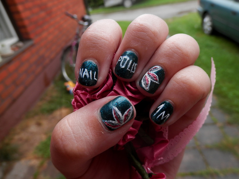 Nailpolish 1M celebration! nail art by Enni