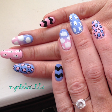 Bold Mix'n'match nail art by MyMintNails