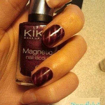 magnetic stripes nail art by Snowflake
