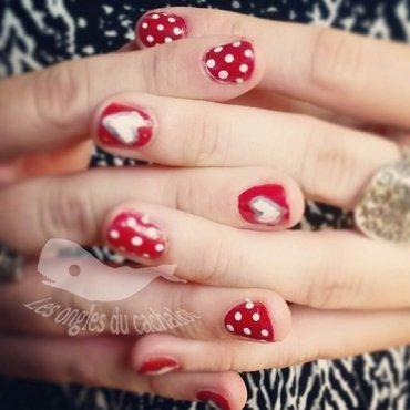 Cute hearts nail art by Cachalot
