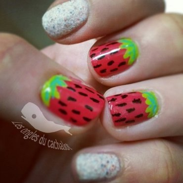 Stramberry <3 nail art by Cachalot