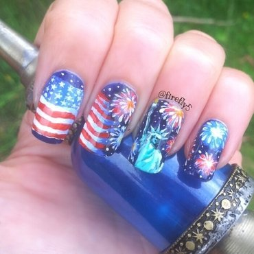 4th July Celebration nail art by Ruth Cox (@firefly5)