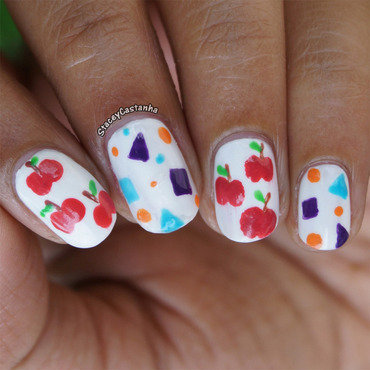 Back to school. nail art by Stacey  Castanha