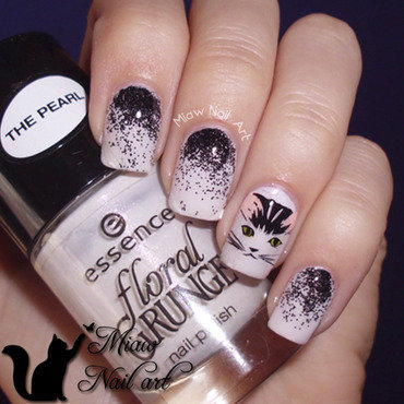 Cat nail art nail art by MiawNailArt