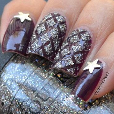 Glittering Diamonds nail art by Jayne