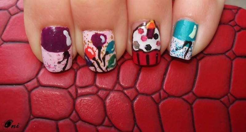 Party Nails nail art by Stegaru  Oana