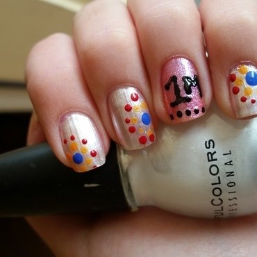 1m fans on Facebook for Nailpolis!   nail art by Ana Quinones