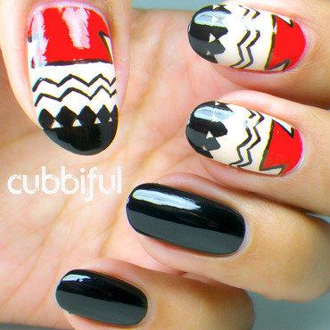 Judy rox mani swap aztec geometric tribal red and black 2 thumb370f