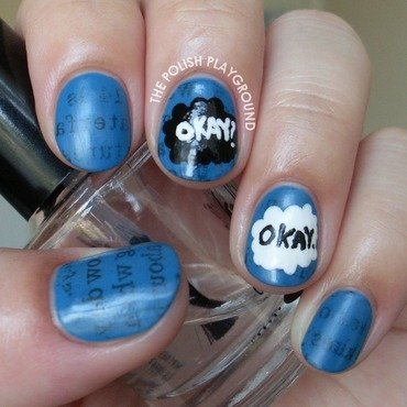The Fault In Our Stars Inspired Nail Art nail art by Lisa N